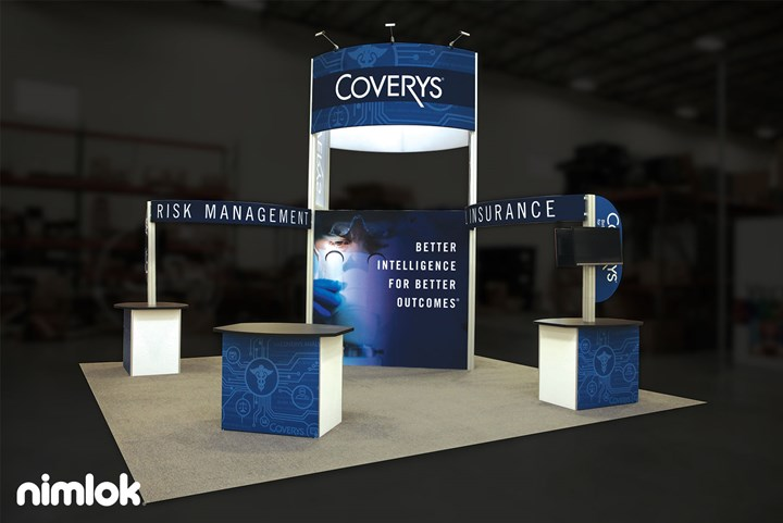Coverys - 20x20 - trade show exhibit