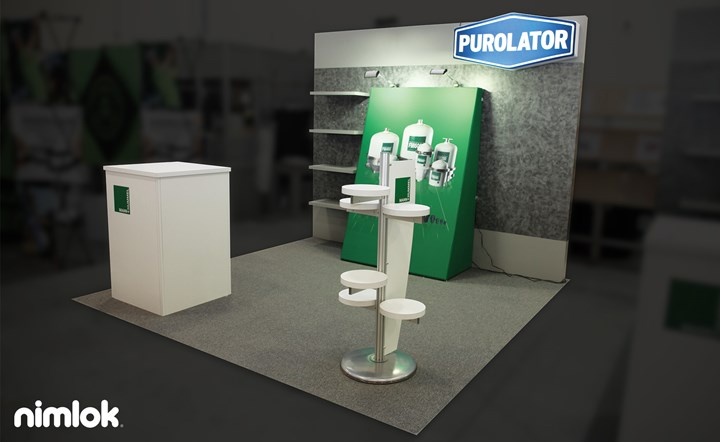 Purolator - 10x10 - trade show exhibit