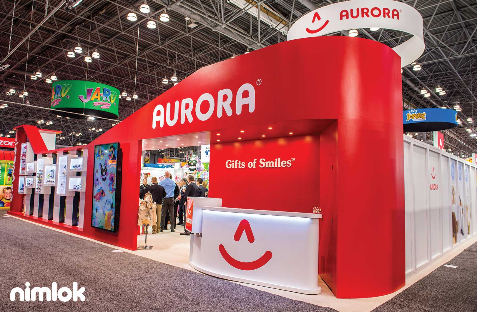 Aurora World Product-Filled Trade Show Booth
