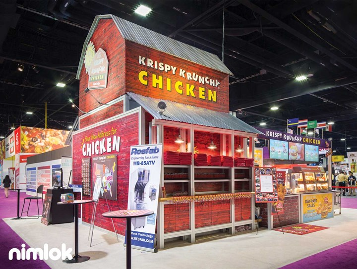 Krispy Krunchy - 20x30 - trade show exhibit