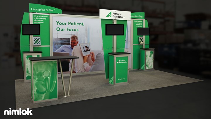 Arthritis Foundation - 10x20 - trade show exhibit