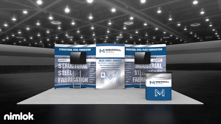Merrill Steel - 10x20 - trade show exhibit
