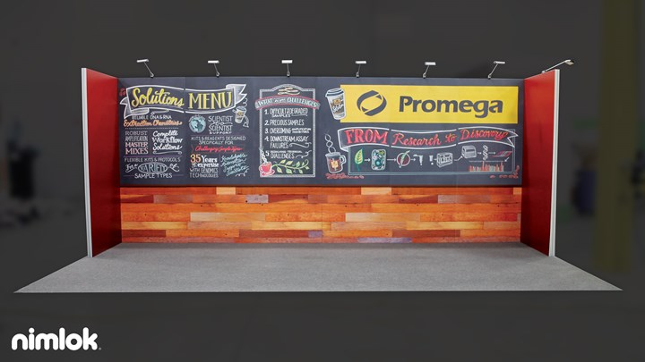 Promega - 10x20 - trade show exhibit