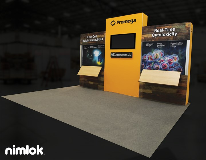 Promega - 20x20 - trade show exhibit