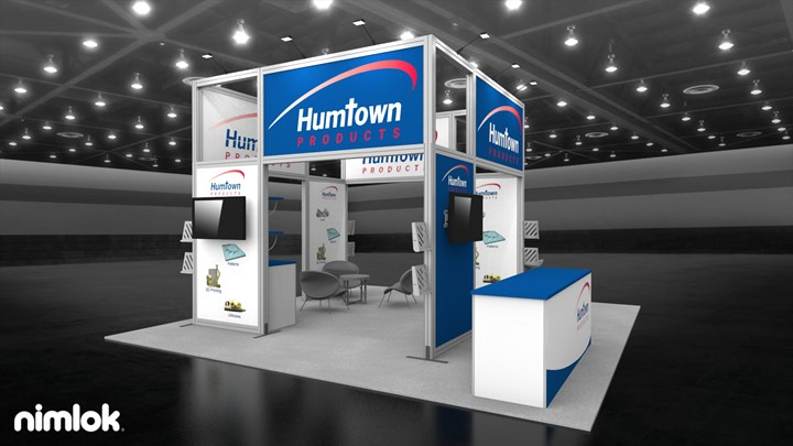 Humtown Products - 20x20 - trade show exhibit