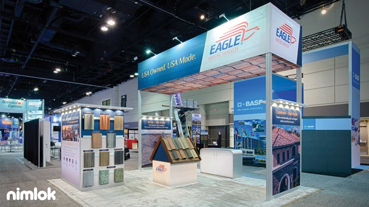 Eagle Roofing - 20x20 - trade show exhibit