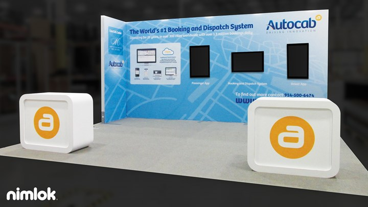 Autocab - 20x20 - trade show exhibit