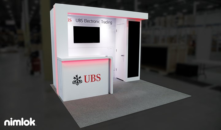UBS - 10x10 - trade show exhibit