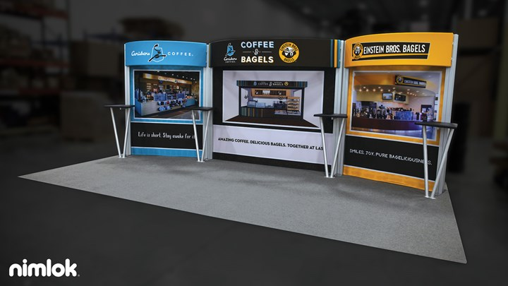 Einstein Dual Brand - 10x20 - trade show exhibit