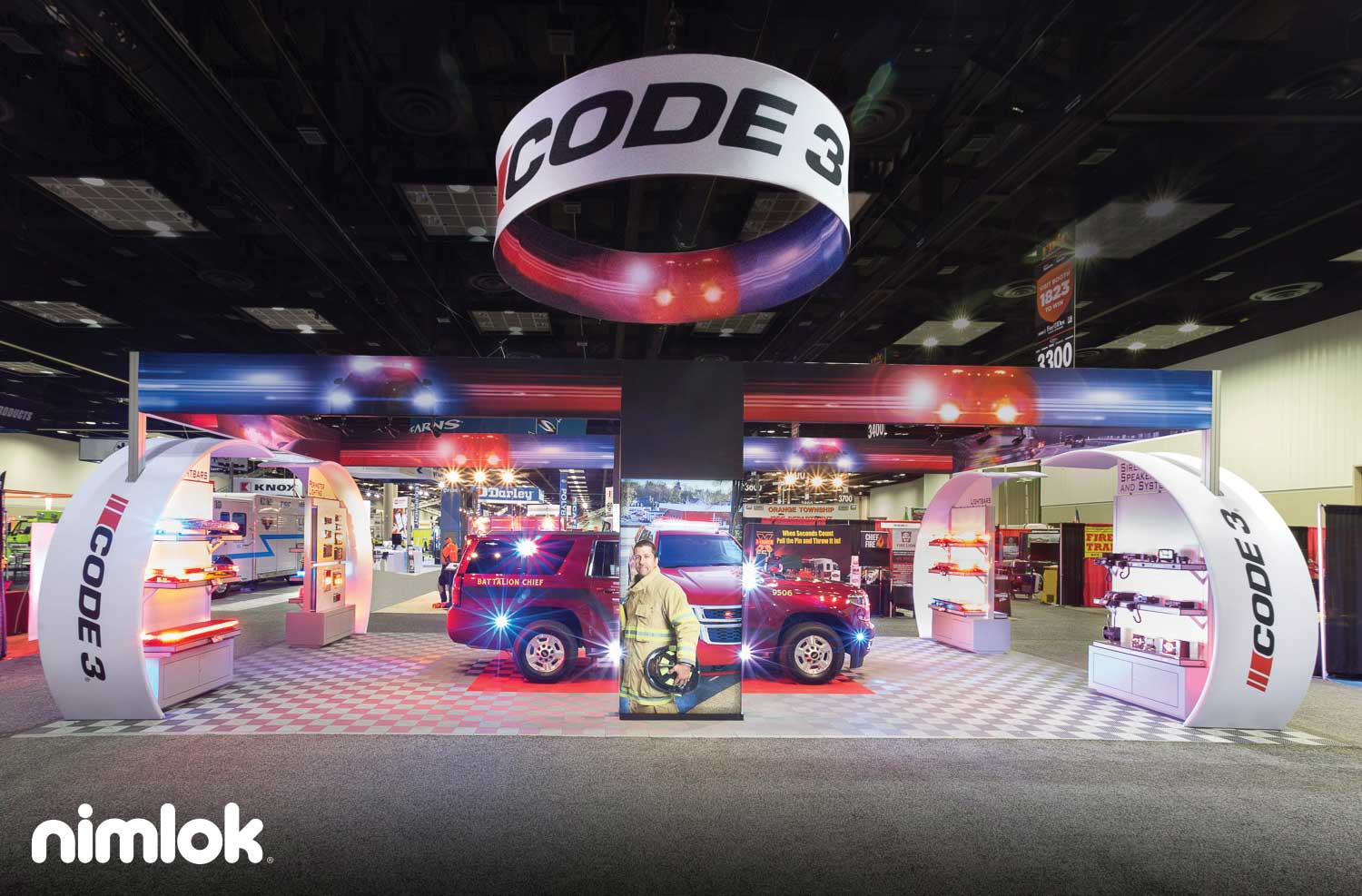 Code 3 Custom Modular Exhibit