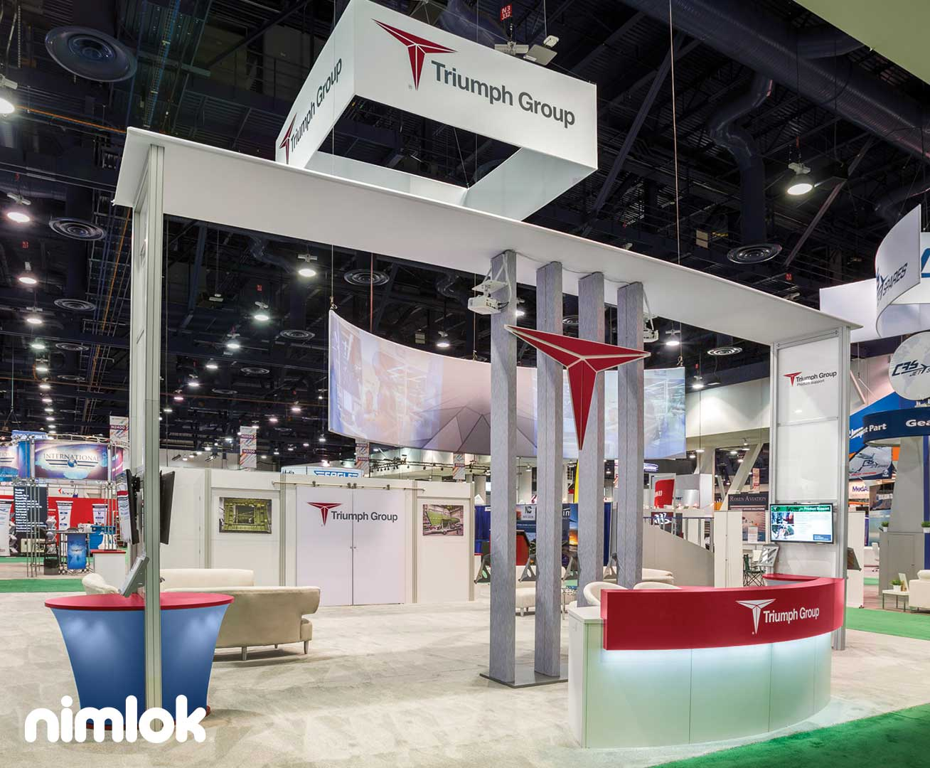 Triumph Group Technology Trade Show Booth