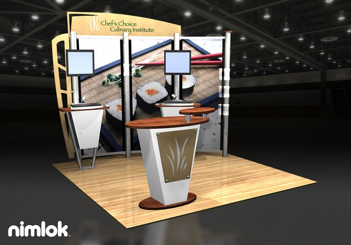 Chef's Choice Culinary Institute  - 10x10 - trade show exhibit
