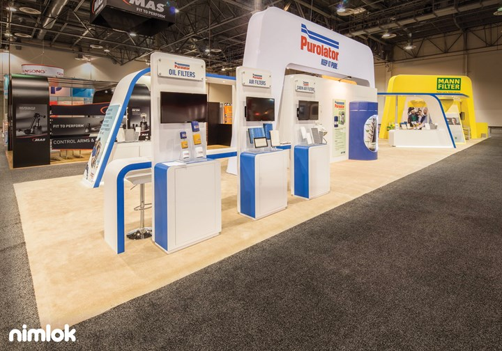 Purolator - 20x90 - trade show exhibit
