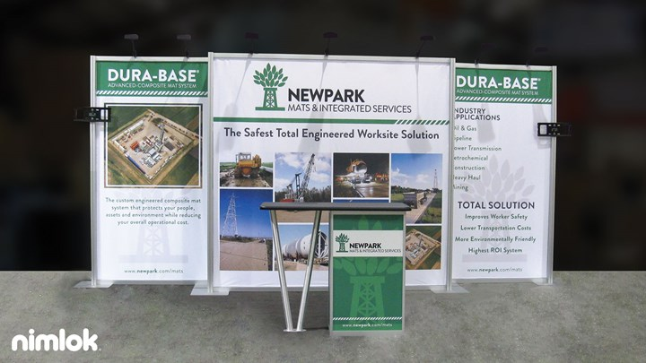 Newpark - 10X20 - trade show exhibit