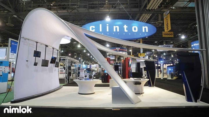 Clinton Electronics - 20x20 - trade show exhibit