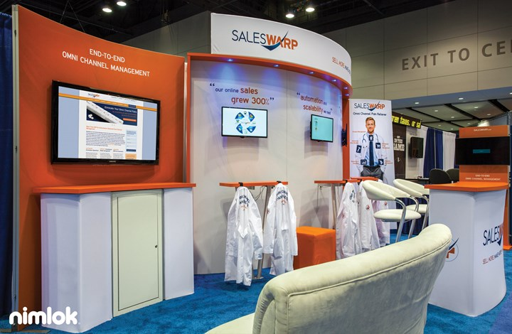 SalesWarp - 10x30 - trade show exhibit