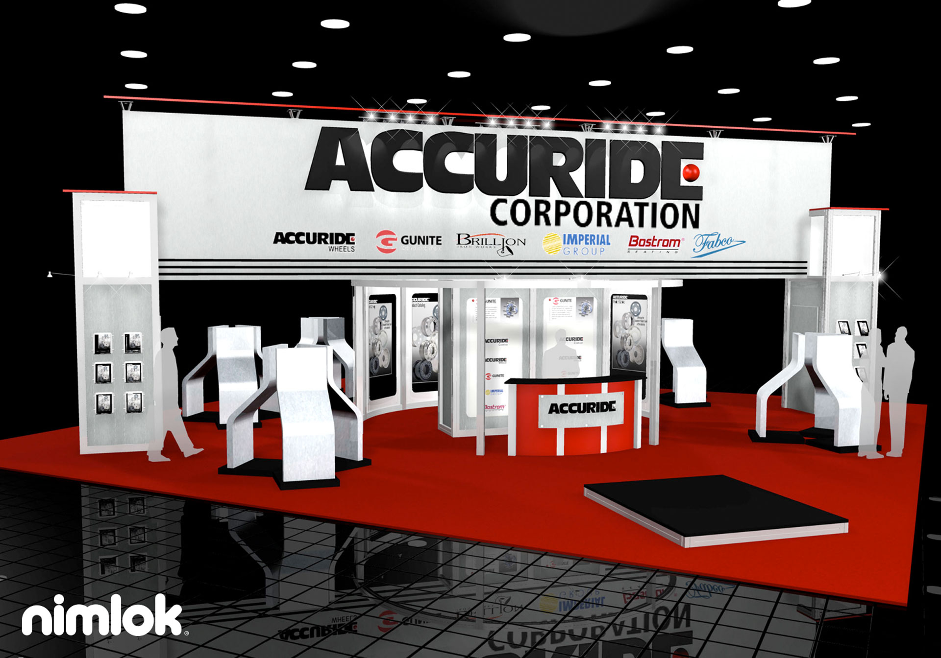 Accuride  - 40x40 - trade show exhibit