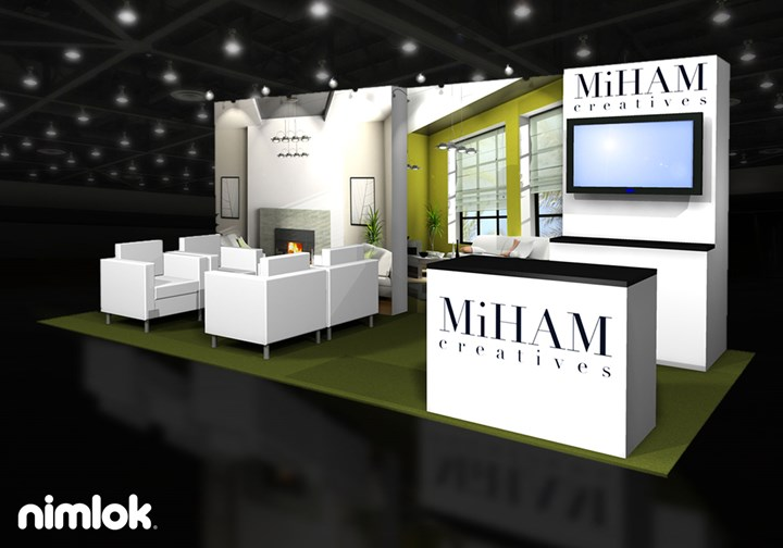 Billitell/MiHAM creatives  - 10x20 - trade show exhibit