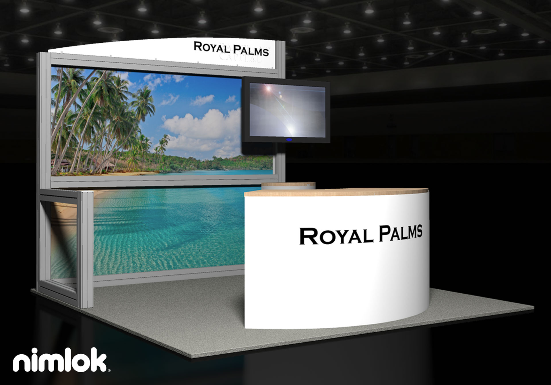 Barclays Capital/ Royal Palms - 10x10 - trade show exhibit