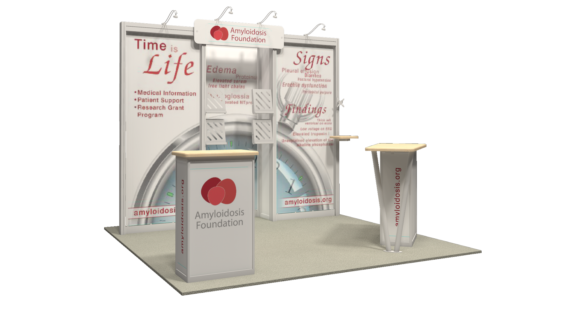 Amyloidosis Foundation - 10x10 - trade show exhibit