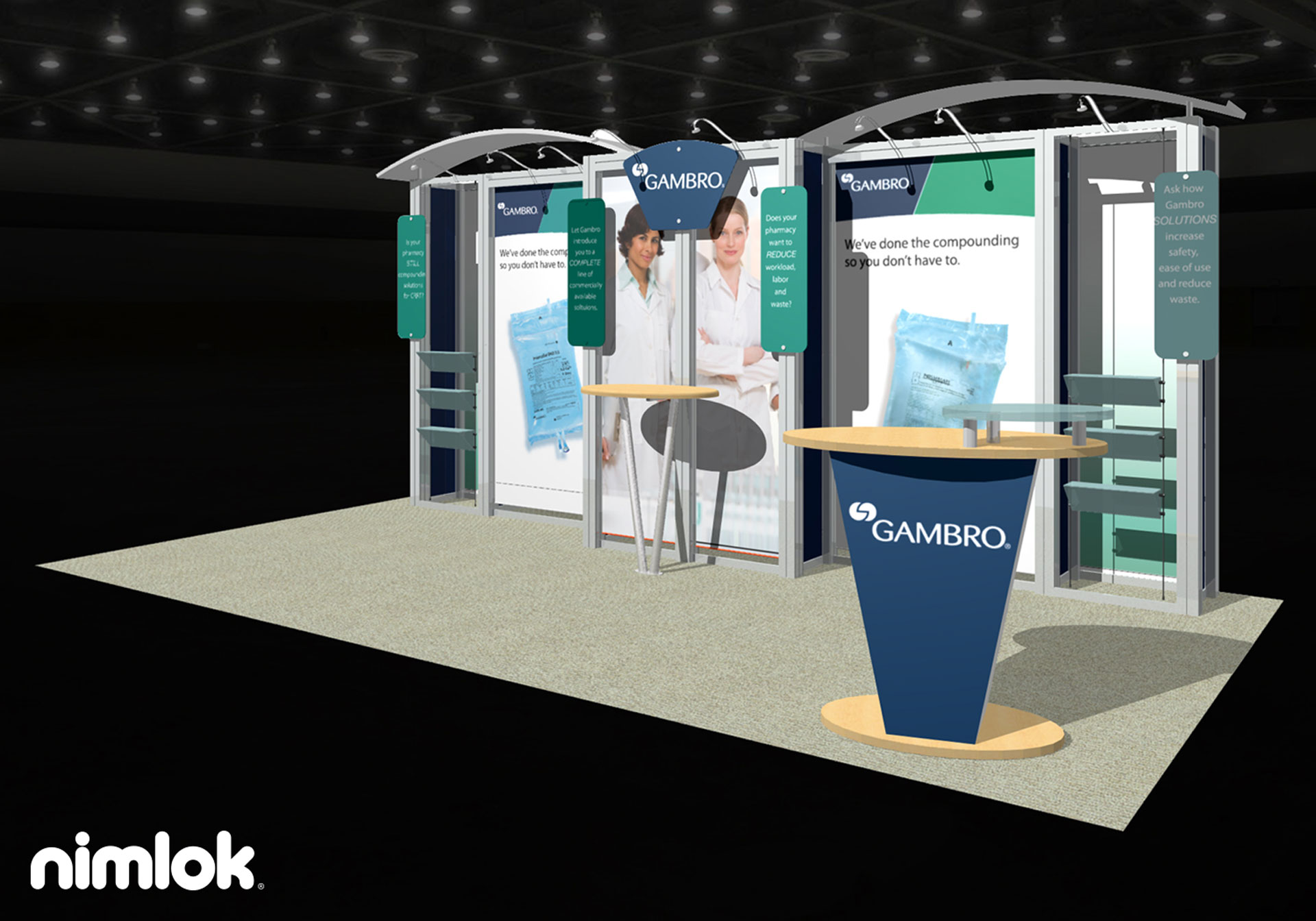Gambro  - 10x20 - trade show exhibit