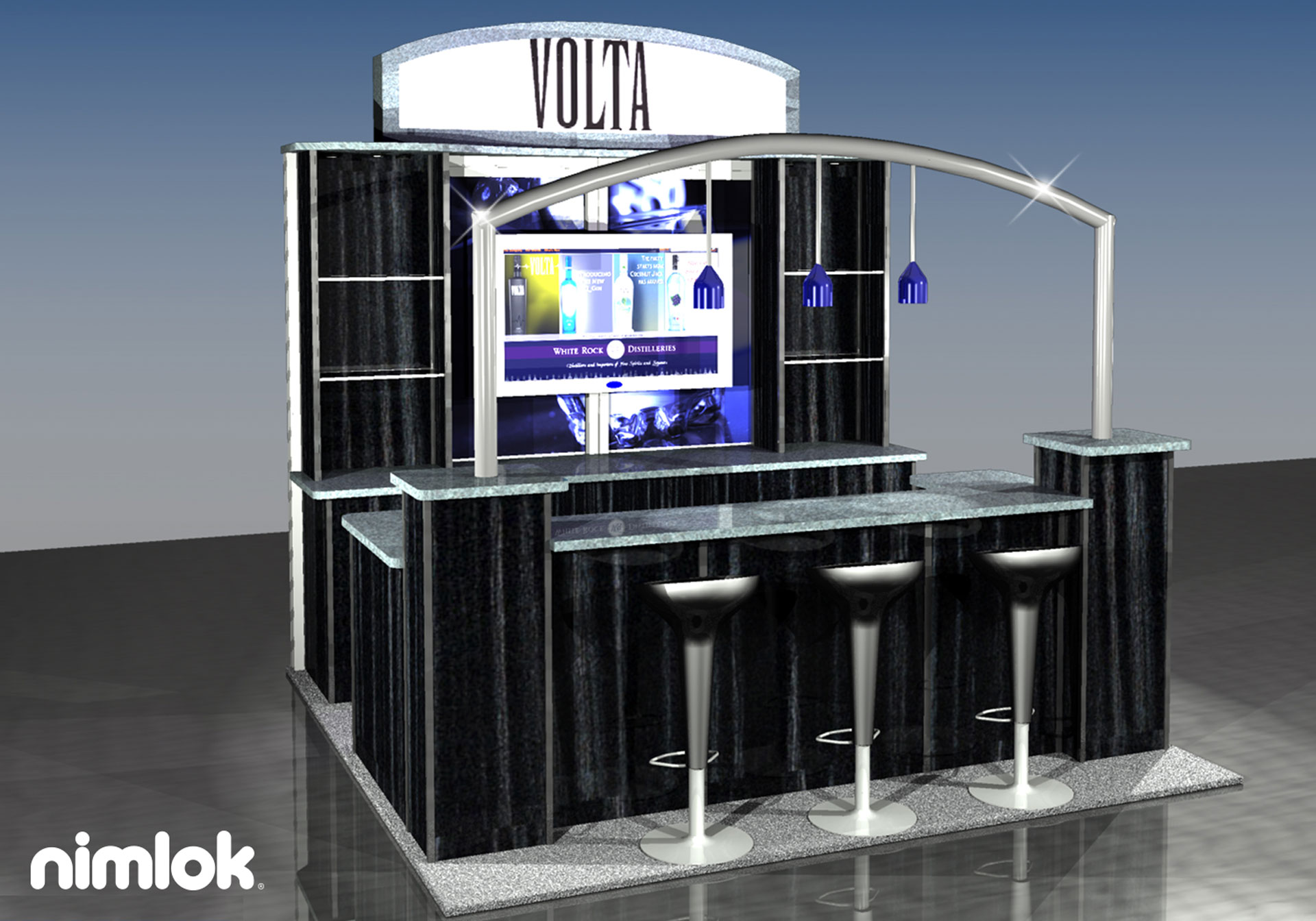 White Rock Distilleries/ Volta  - 10x10 - trade show exhibit