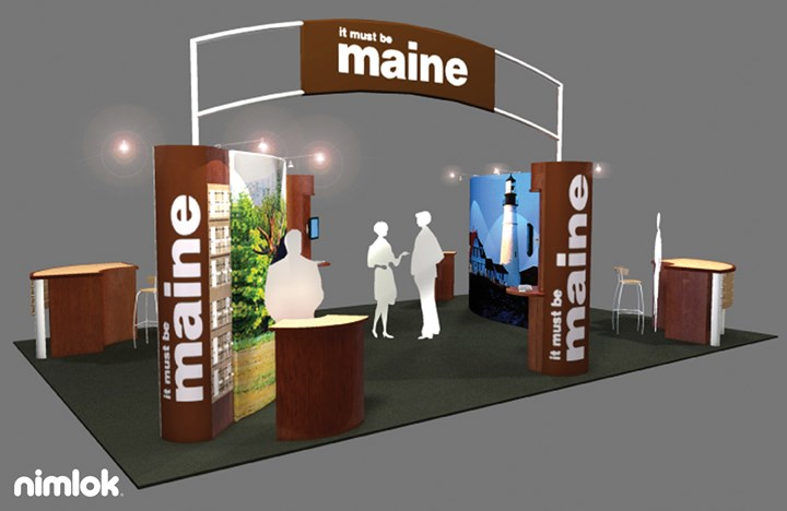 Maine Office of Tourism - 20x30 - trade show exhibit