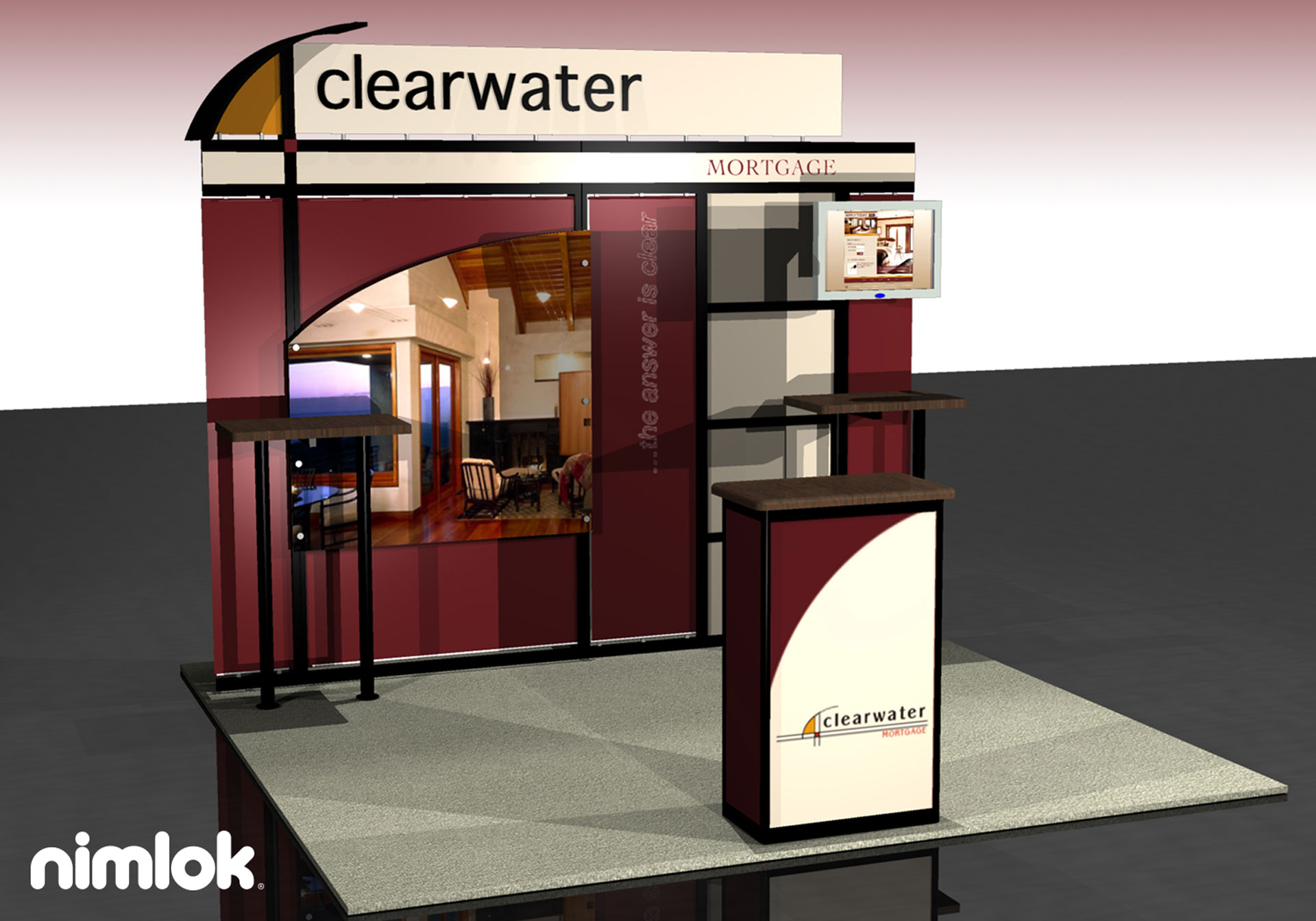 Clearwater Mortgage - 10x10 - trade show exhibit