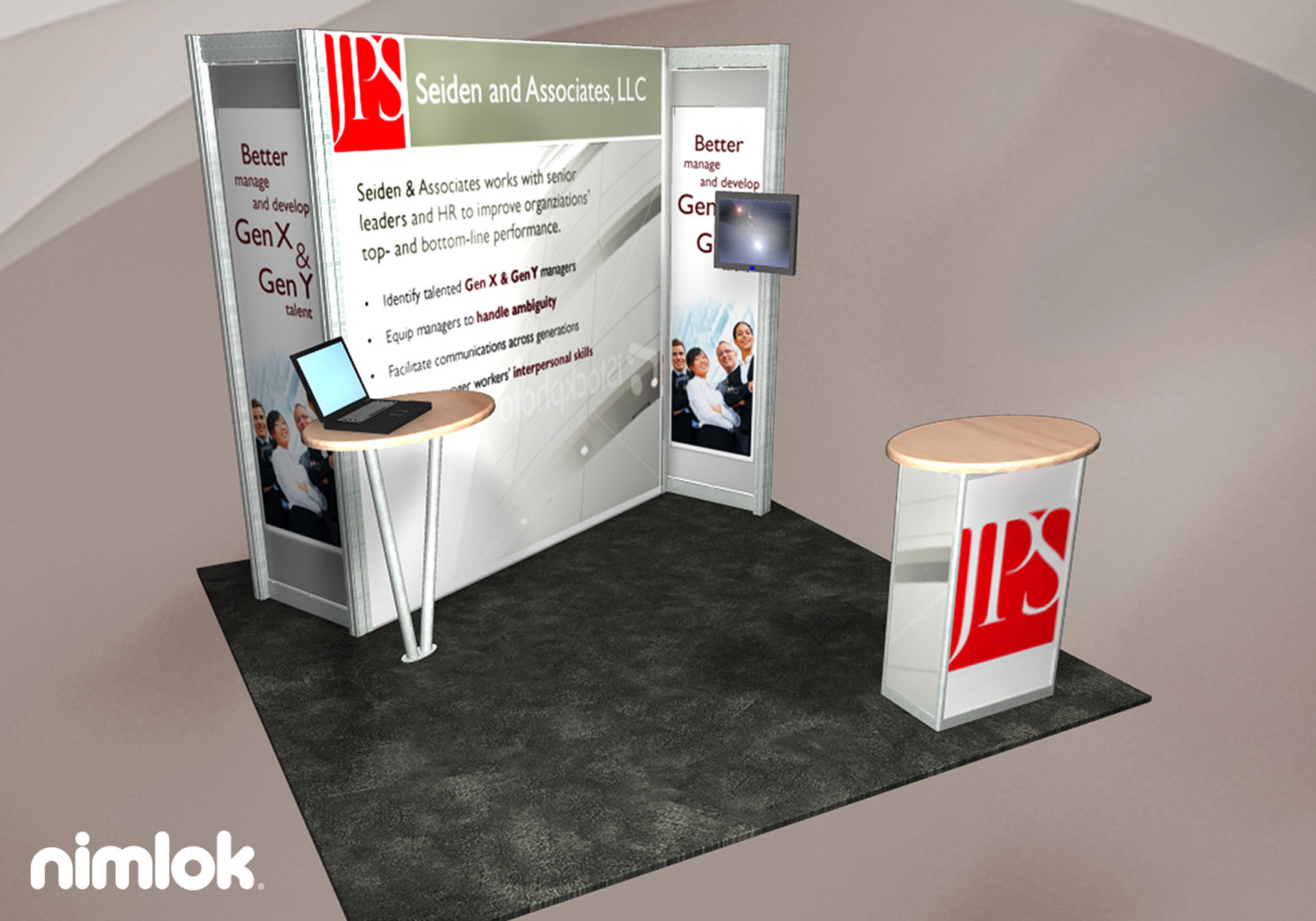 Seiden and Associates, LLC - 10x10 - trade show exhibit