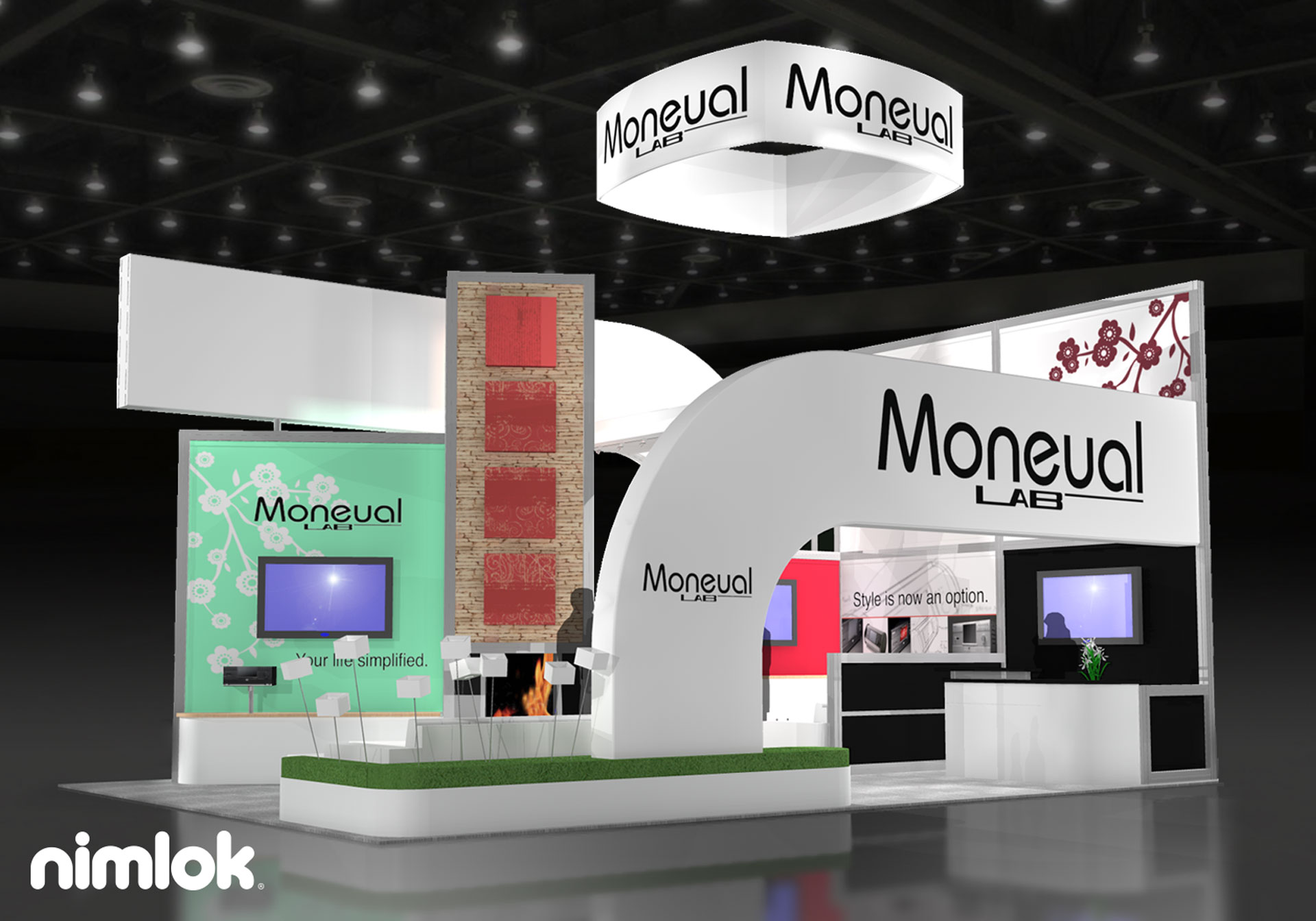 Moneual - 20x30 - trade show exhibit