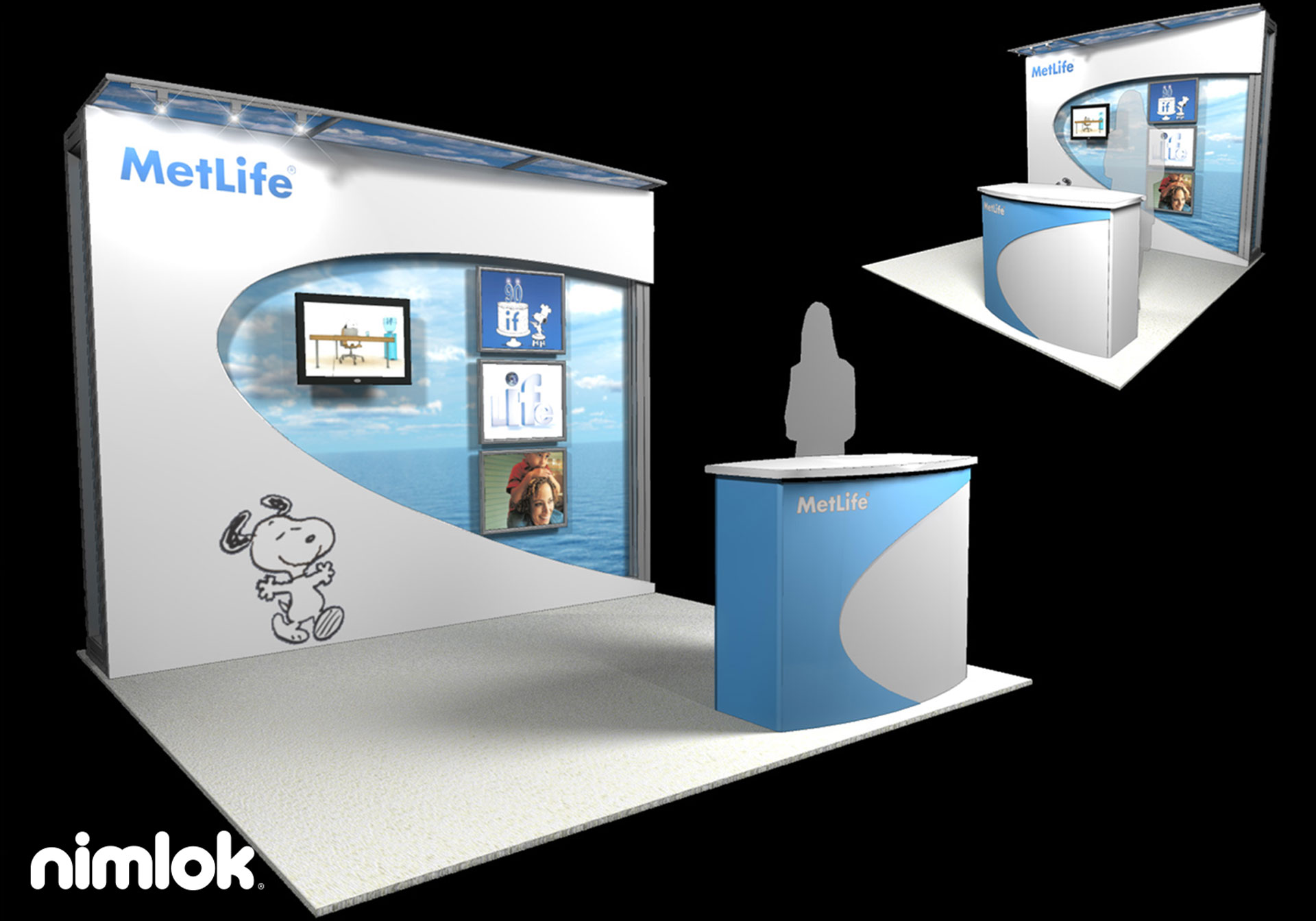 Metlife - 10x10 - trade show exhibit
