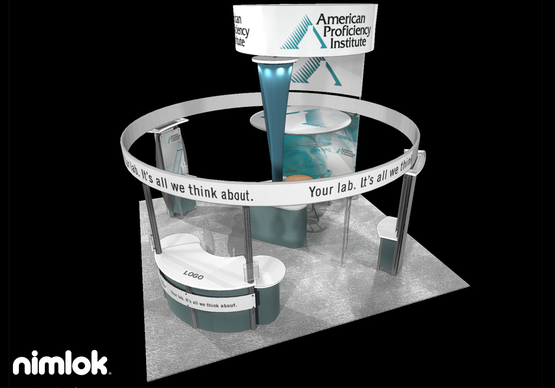 American Proficiency Institute - 20x20 - trade show exhibit