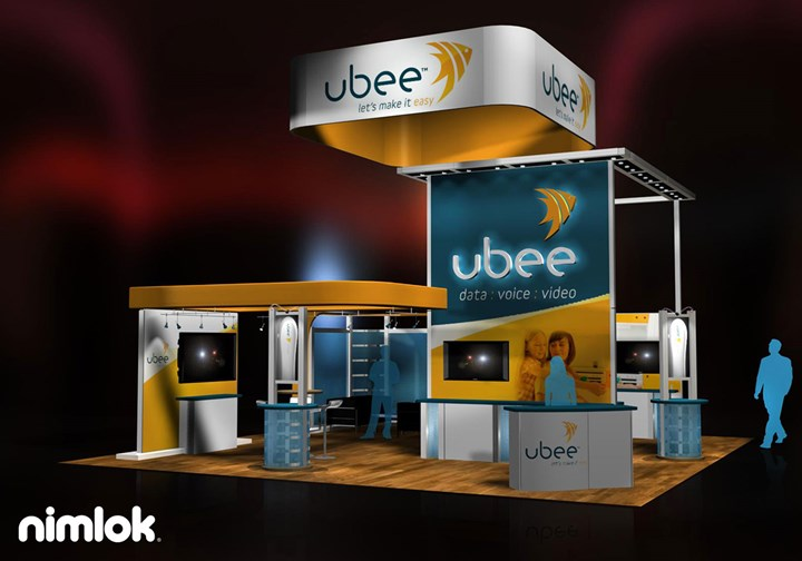 Ambit/Ubee  - 30x30 - trade show exhibit