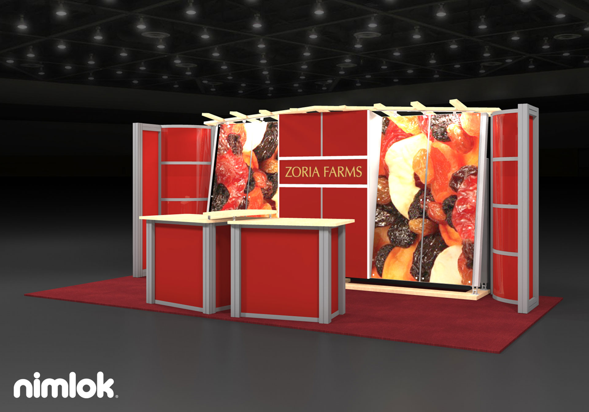 Zoria Farms - 10x20 - trade show exhibit