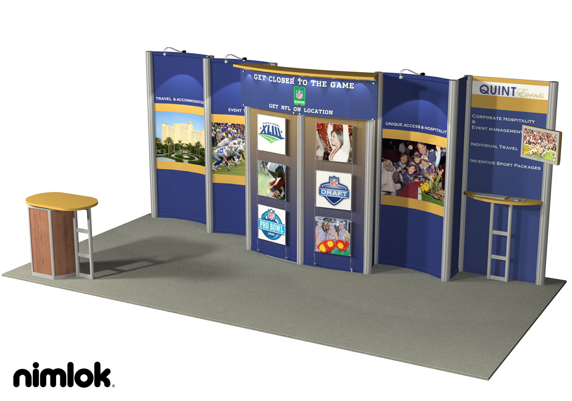 Quint Events - 10x20 - trade show exhibit