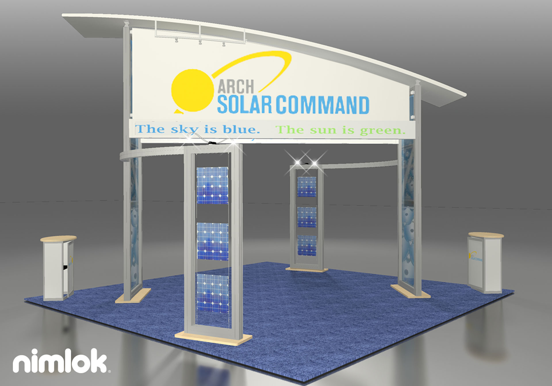 Arch Solar Command - 20x20 - trade show exhibit