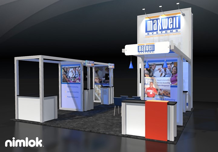 Maxwell Systems - 20x20 - trade show exhibit