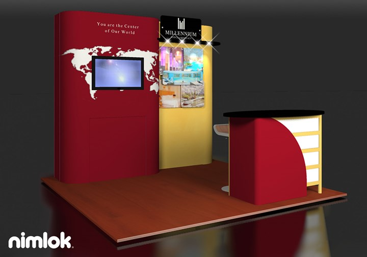 Millennium Hotels - 10x10 - trade show exhibit