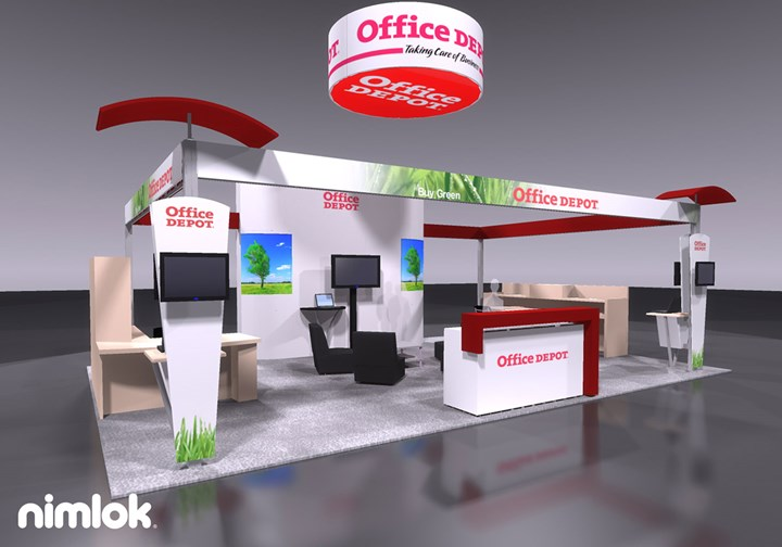 Office Depot - 20x30 - trade show exhibit