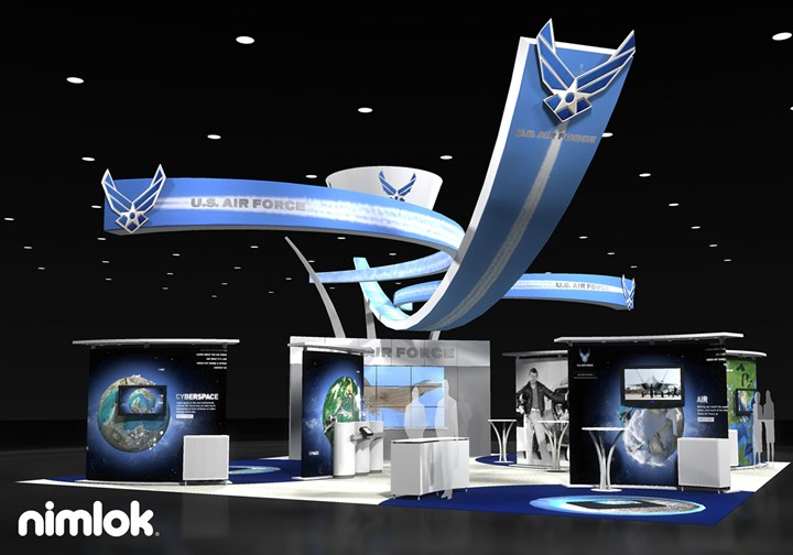 Marcom Group / Airforce - 40x40 - trade show exhibit