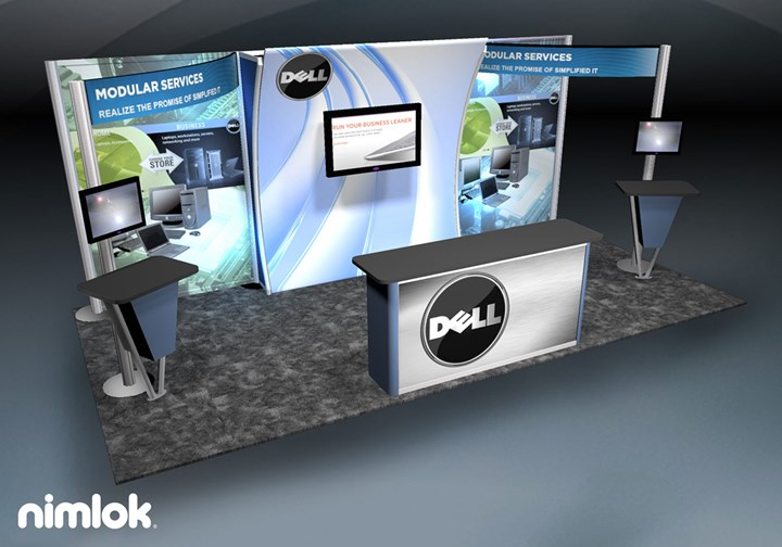 Dell - 10x20 - trade show exhibit