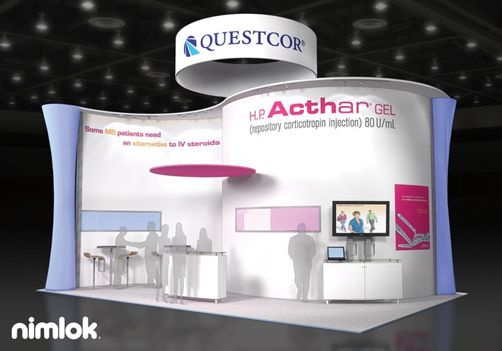 Questcor  - 20x30 - trade show exhibit
