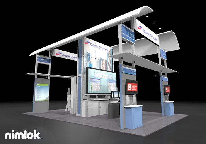Clever Devices  - 30x30 - trade show exhibit