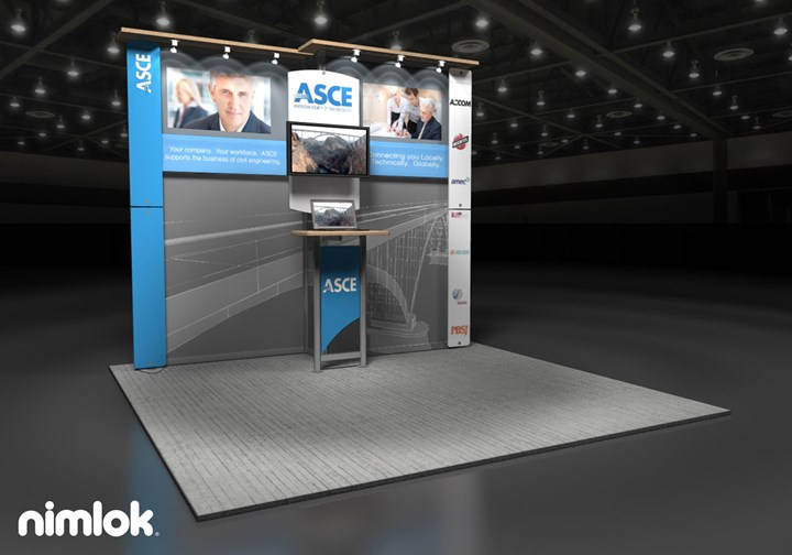American Society of Civil Engineers - 10x10 - trade show exhibit