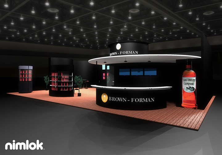 Brown-Forman - 30x50 - trade show exhibit