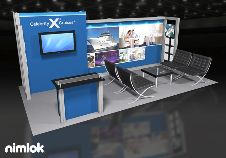 Celebrity Cruises - 10x20 - trade show exhibit