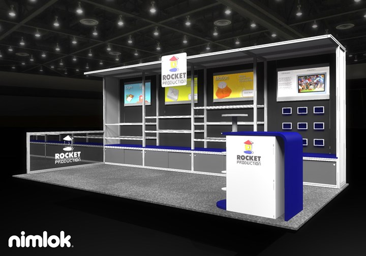 Rocket Group - 10x20 - trade show exhibit
