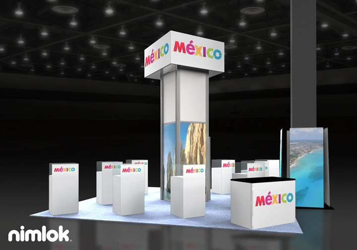 Mexico Tourism - 20x20 - trade show exhibit