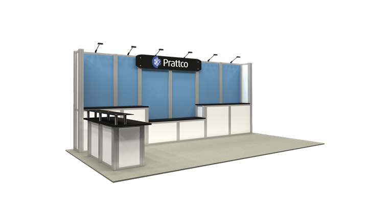 Prattco - 10x20 - trade show exhibit