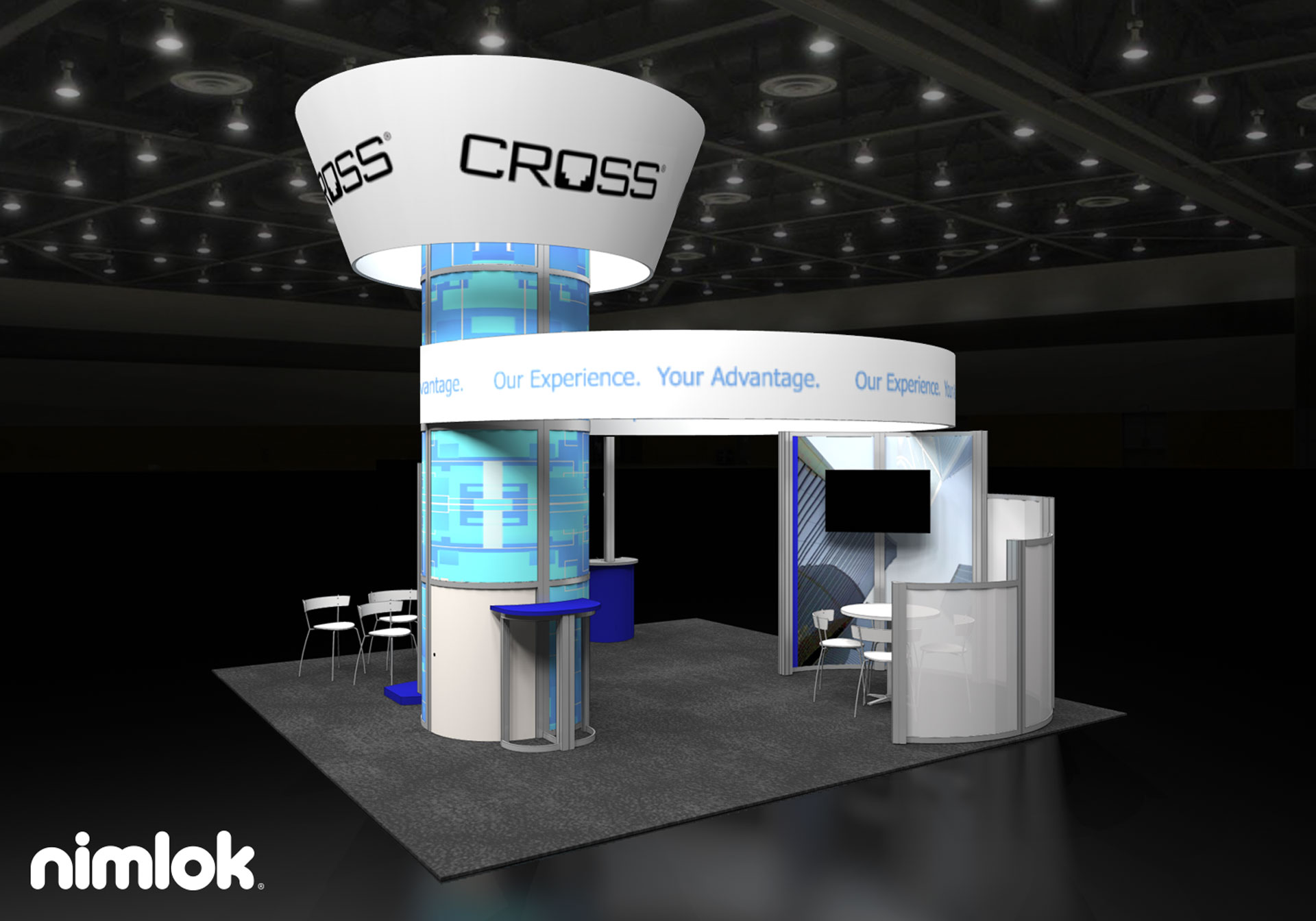 Cross Telecom - 20x20 - trade show exhibit